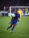 Spiel 2014 der Fußball-Weltmeisterschafts-näheren Bestimmung Ukraine gegen Frankreich Stockbilder
