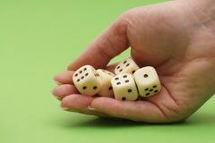 Spiel der Würfel Lizenzfreie Stockfotos