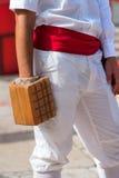 Spiel des Balls mit dem Armband - Treia Italien Stockfotografie