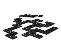 Spiel des Dominos Stockbild