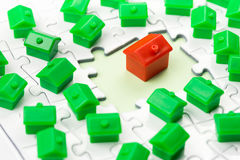 Spiel des Eigentums u. des Immobilienmarkts Lizenzfreie Stockfotos
