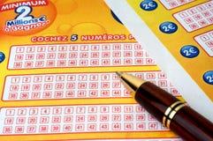 Spiel des französischen Lottos Stockbild