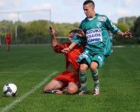 Spiel des Fußballs U19 Lizenzfreies Stockbild