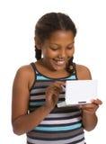 Spiel des jungen Mädchens Stockfotografie