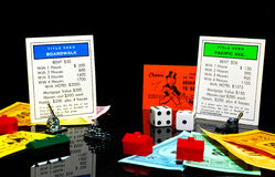 Spiel des Monopols Stockbild