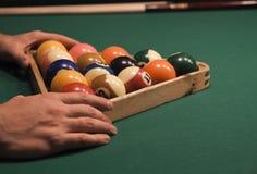 Spiel des Pools (Billiard) stockfotografie