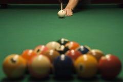 Spiel des Pools (Billiard) stockbilder