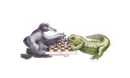 Spiel des Schachs Lizenzfreie Stockfotos