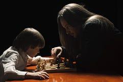 Spiel des Schachs Lizenzfreie Stockfotografie