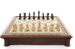 Spiel des Schachs stockbild