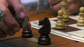 Spiel des Schachs stock footage