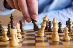 Spiel des Schachs Stockfotografie