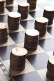 Spiel des Verdienens des Geldes Stockfotos