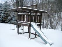 Spiel eingestellt in den Schnee Lizenzfreie Stockbilder