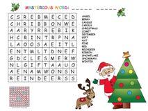 Spiel für Kinder für Weihnachten lizenzfreie abbildung