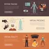 Spiel-Fahnen der virtuellen Realität Lizenzfreie Stockfotos