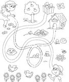 Spiel für Kinder 1 BW Lizenzfreie Stockbilder