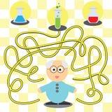 Spiel für Kinder - helfender Wissenschaftler Lizenzfreie Stockfotos