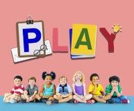 Spiel-Freizeitbetätigungs-Erholungs-Unterhaltung, die Konzept spielt Lizenzfreies Stockfoto
