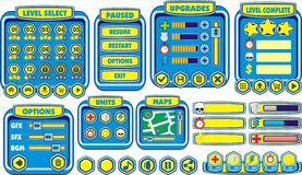 Spiel-GUI 15 vektor abbildung