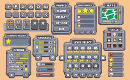 Spiel-GUI 21 Stockfotos