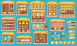 Spiel-GUI 54 Lizenzfreies Stockfoto