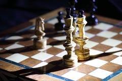 Spiel im Schach Stockfotografie