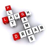 Spiel-Lachen-Traum-Spiele stock abbildung