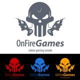 Spiel-Logo lizenzfreie abbildung