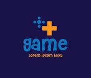 Spiel Logo Design Concept Lizenzfreies Stockbild