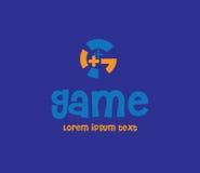 Spiel Logo Design Concept Stockfotos