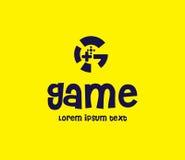 Spiel Logo Design Concept Stockfoto