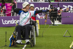 Spiel 2012 Londons Paralympic Stockfotos