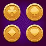 Spiel-Münze Stockfotos