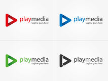 Spiel-Medien-Logo Multimedialogo Lizenzfreies Stockbild