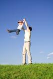 Spiel mit Vater 2 Lizenzfreie Stockfotografie