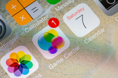 Spiel-Mitte-Anwendung Stockfotos