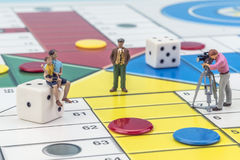 Spiel Parchis Stockfotos