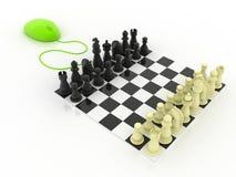 Spiel-Schach on-line Lizenzfreies Stockfoto