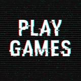 Spiel-Spielstörschubtext Effekt des Anaglyph 3D Technologischer Retro- Hintergrund Auch im corel abgehobenen Betrag Kreative Web- vektor abbildung