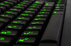 Spiel-Tastatur Stockfoto