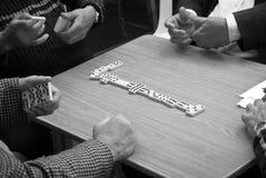 Spiel von Dominos Stockfotos