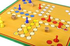 Spiel von Ludo Stockbilder