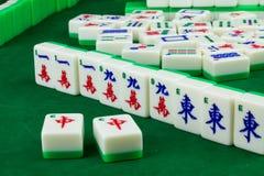 Spiel von Mahjong stockfoto