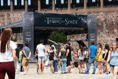 Spiel von Thronen, Mailand 2017 Lizenzfreie Stockbilder