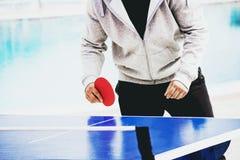 Spiel von Tischtennis Stockfotos