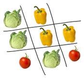 Spiel von tris mit Äpfeln lizenzfreies stockbild
