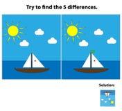 Spiel von Unterschieden Lizenzfreie Stockbilder
