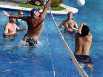Spiel von Wasserpolo Stockfoto