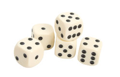 Spiel-Würfel über weißem Hintergrund lizenzfreies stockfoto